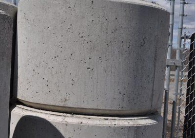 Bloc rond 3'diamètre x2'haut avec 1 crochet encastré