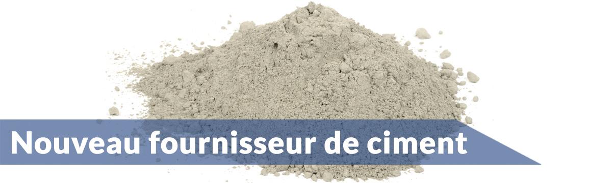 Ciment Québec | Nouveau fournisseur pour 2015