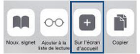Ajout Écran d'accueil IPhone