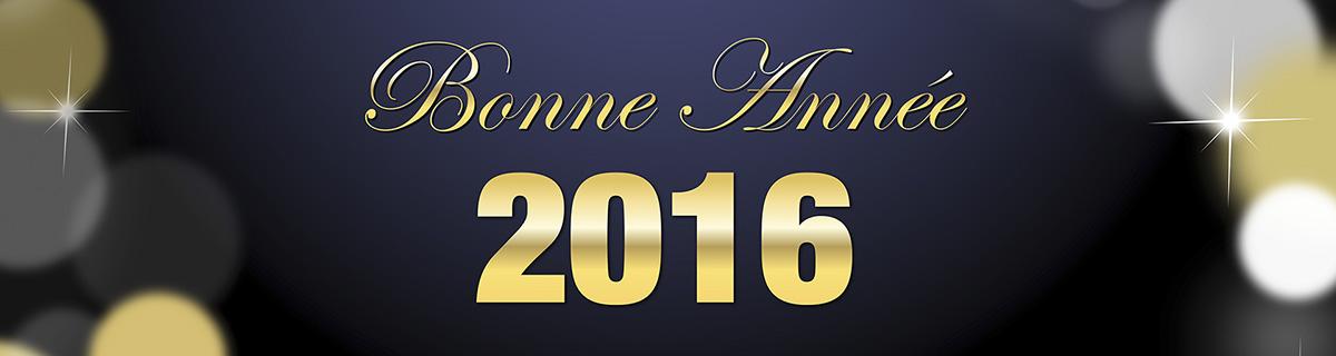 Bonne année 2016 de la part de toute notre équipe!