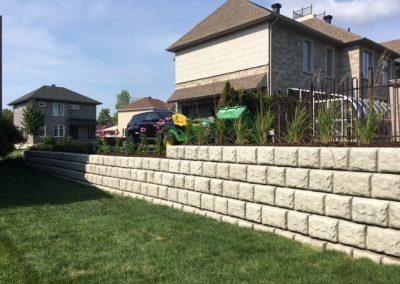Aménagement paysager blocs de béton décoratifs