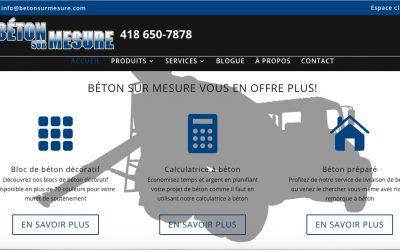 Avez-vous visité le nouveau site web de Béton Sur Mesure?