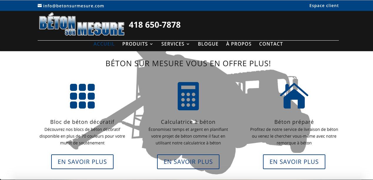 Avez vous visit le nouveau site web de b ton sur mesure for Site web de houseoftheweek