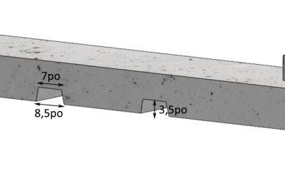 Nouveau : base en béton préfabriqué pour affiche commercial 4′ x 8′