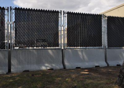 Butoir de stationnement (clôture temporaire)