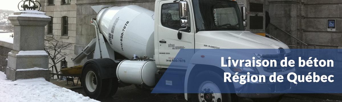 Service de livraison de béton à Québec