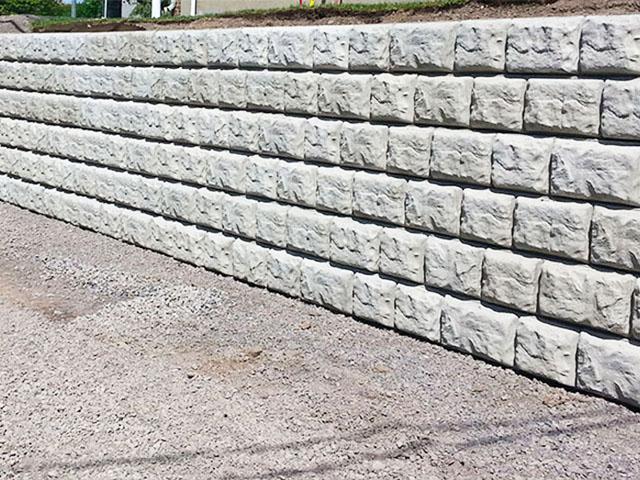 mur de soutènement en bloc de béton